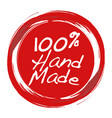 handmade stamp for hand crafted product vector image