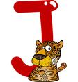 J for jaguar vector image