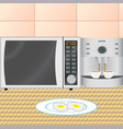 kitchen interior in the early morning vector image
