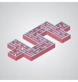mazeIsometric dollar vector image