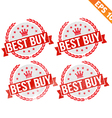 Rubber stamp best buy - - EPS10 vector image