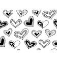 Seamless pattern with the hand drawn ink doodle vector image