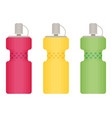sport bottles icon for water icon in flat style vector image