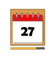 The Twenty-seven days on the calendar vector image