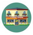 Digital coffee house cafe shop vector image