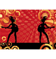 Girls playing guitars vector image vector image