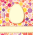 easter flower background vector image