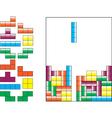 Tetris pieces vector image