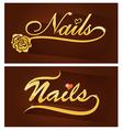 nails saloon symbol vector image vector image