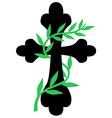 cross vine vector image vector image