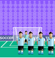 Argentina Soccer Club Penalty on a Stadium vector image