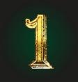 1 golden letter vector image vector image
