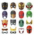 Superhero masks flat collection vector image vector image
