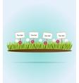 Flower meadow vector image