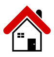 Simple house icon Modern house design element for vector image