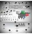 Asia map different icons and Information graphics vector image