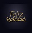 feliz navidad wishes typography text card vector image