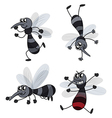 Four mosquitoes vector image