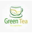 green tea logo vector image