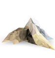 Low poly mountain scene on a white background vector image
