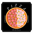 the set pizza vector image