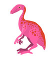 young dinosaur icon cartoon style vector image