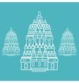 Prambanan Hindu temple Indonesia vector image