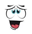 happy face cartoon expression vector image