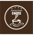 always fresh coffee graphic vector image