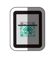 Isolated qr code and tablet design vector image