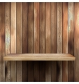 Wood shelf for exhibit EPS 10 vector image