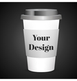 Disposable coffee cup isolated vector image