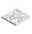 3d square maze labyrinth grey object on vector image