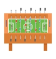 Table soccer pixel art  kicker vector image