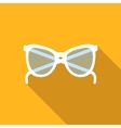 Sunglasses flat icon vector image vector image