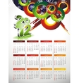 calendar design 2012 with abstract circle design vector image