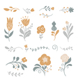 set of graphic floral elements vector image vector image