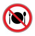 no food sign vector image
