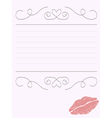 Romantic stationery vector image