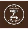 always fresh coffee graphic vector image