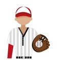baseball club player field label design vector image