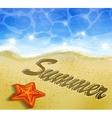 Beautiful beach top view vector image