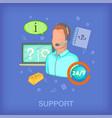call center concept man cartoon style vector image