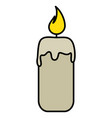 candle spa isolated icon vector image