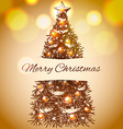 Christmas hand drawn fur tree for xmas design With vector image