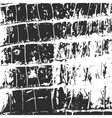 Crocodile leather abstract texture black on white vector image