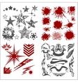 Design elements on white background - big vector image