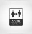gender equality concept vector image