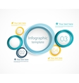 Infographic template with circles vector image