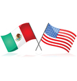 Mexico and the United States vector image